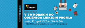 Y.business delavnica: V 10 korakih do odličnega LinkedIn profila