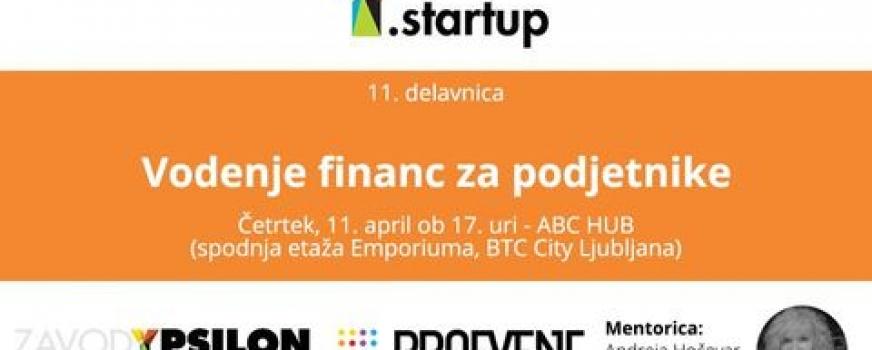 Y.startup delavnica: Vodenje financ za podjetnike