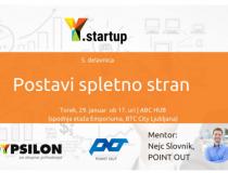 Y.startup delavnica: Postavi spletno stran